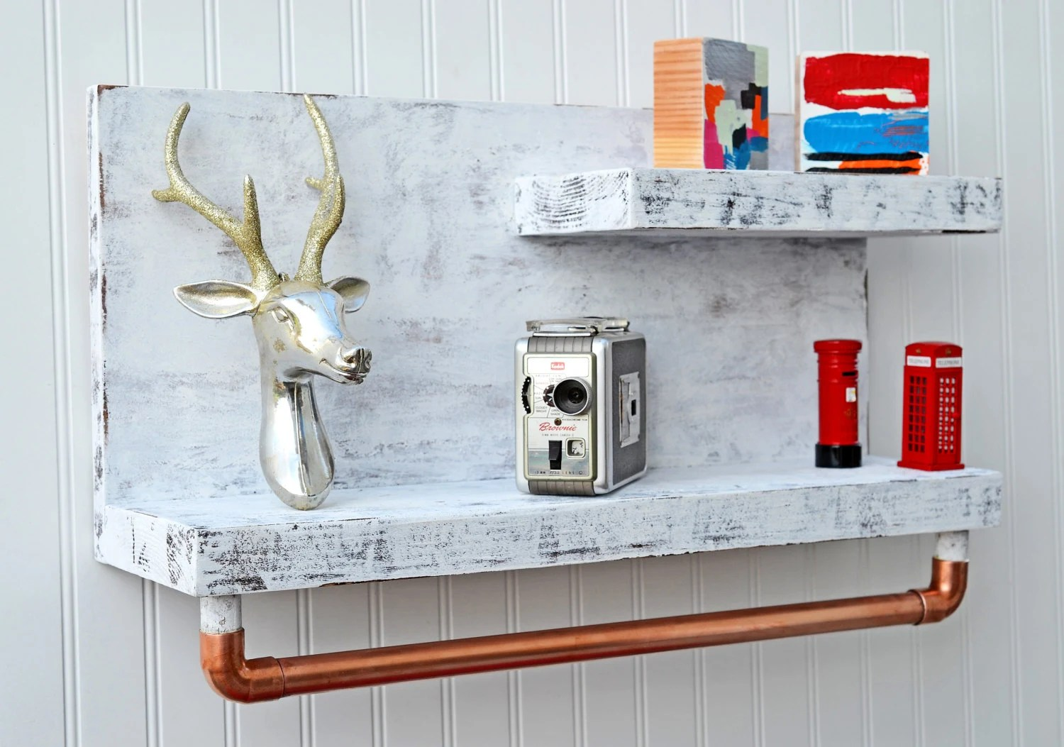 28 Awesome Copper Bathroom Shelves Eyagcicom