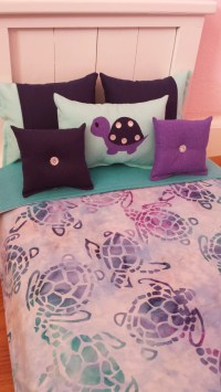 Handmade 6-PC-bedding set Sea Turtles theme inspired for