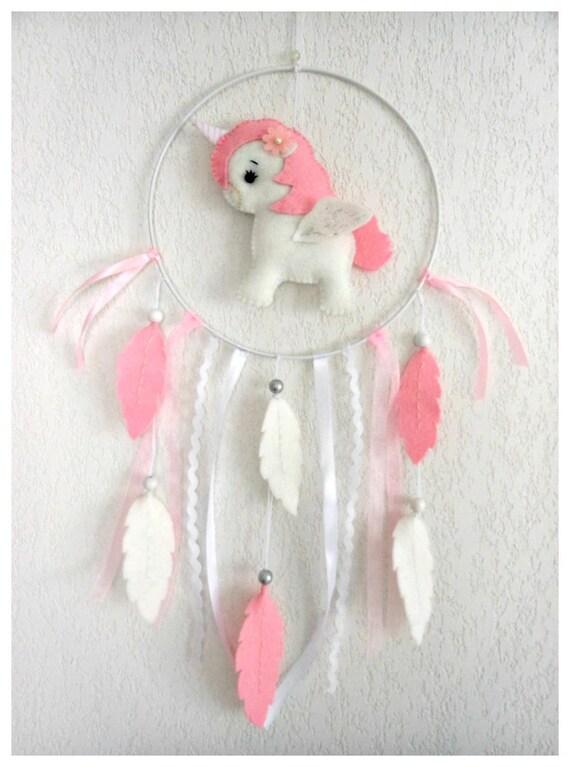 Attrape-rêves Oiseau et bois flotté pour décoration chambre de bébé