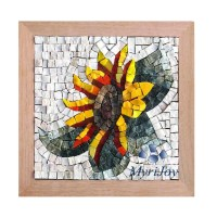 Gifts for women DIY Mosaics wall art Sunflower - Marble ...
