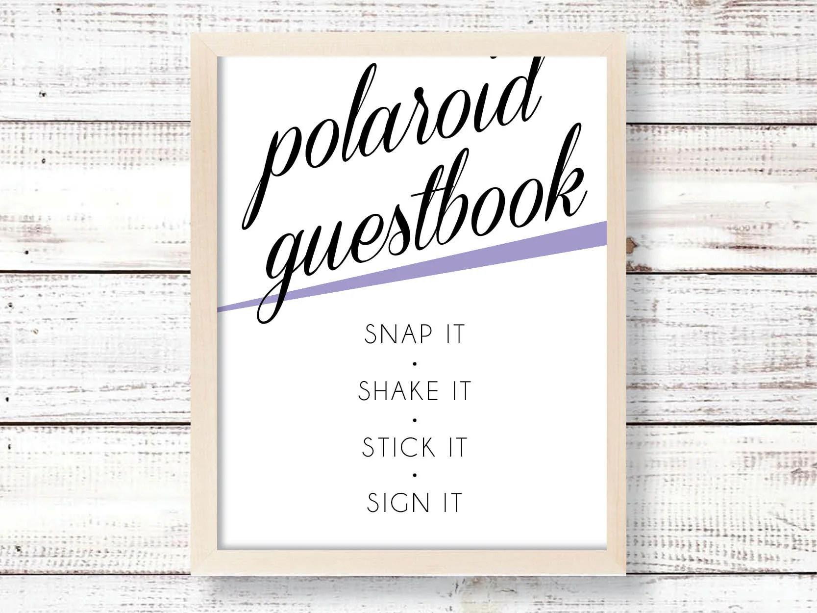 Fullsize Of Polaroid Guest Book