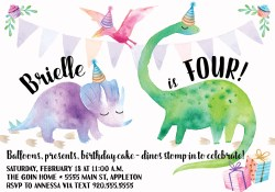 Small Of Dinosaur Birthday Invitations