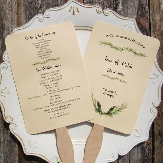 Wedding Program Fan Wedding Programs Wedding Hand Fans