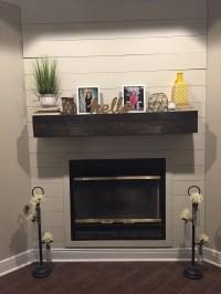 Dark Walnut Fireplace Mantle .Rugged Wood Mantel.Floating