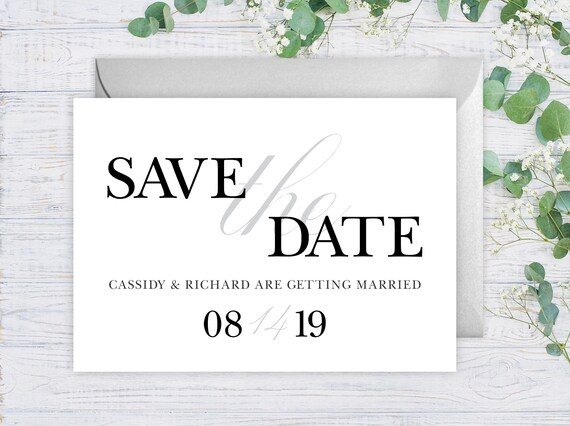 Elegant Save The Date Cards - 5\