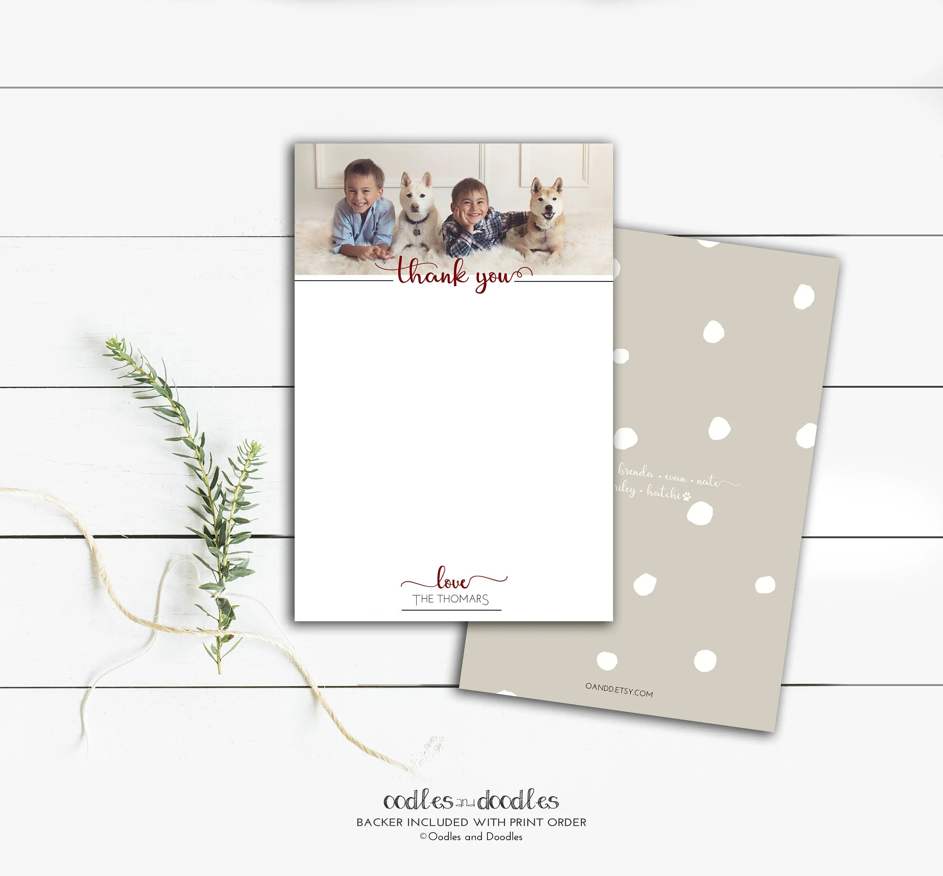 Holiday Thank You Cards, Personalized Family Stationery, Photo Thank