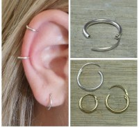 Cartilage hoop Small hoop earrings Gold hoop earrings