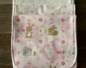 3 Pack Pink Bunny Burp Cl...