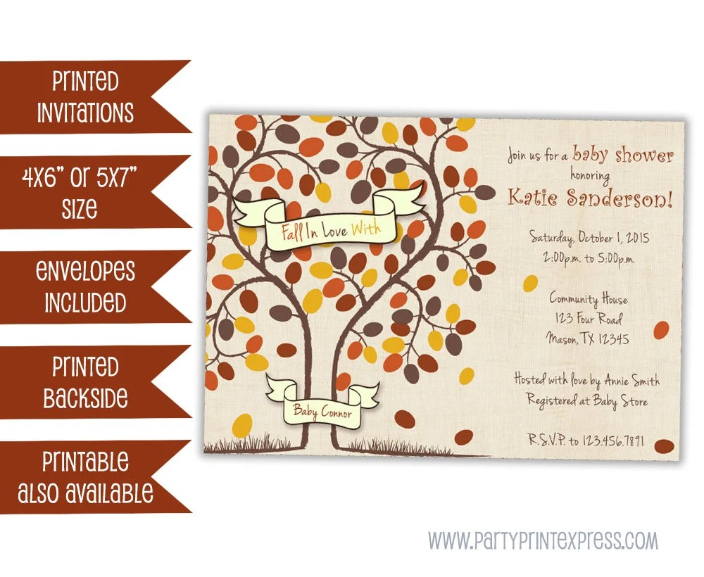 Fall In Love Baby Shower Invitation - Fall Baby Shower Invitations