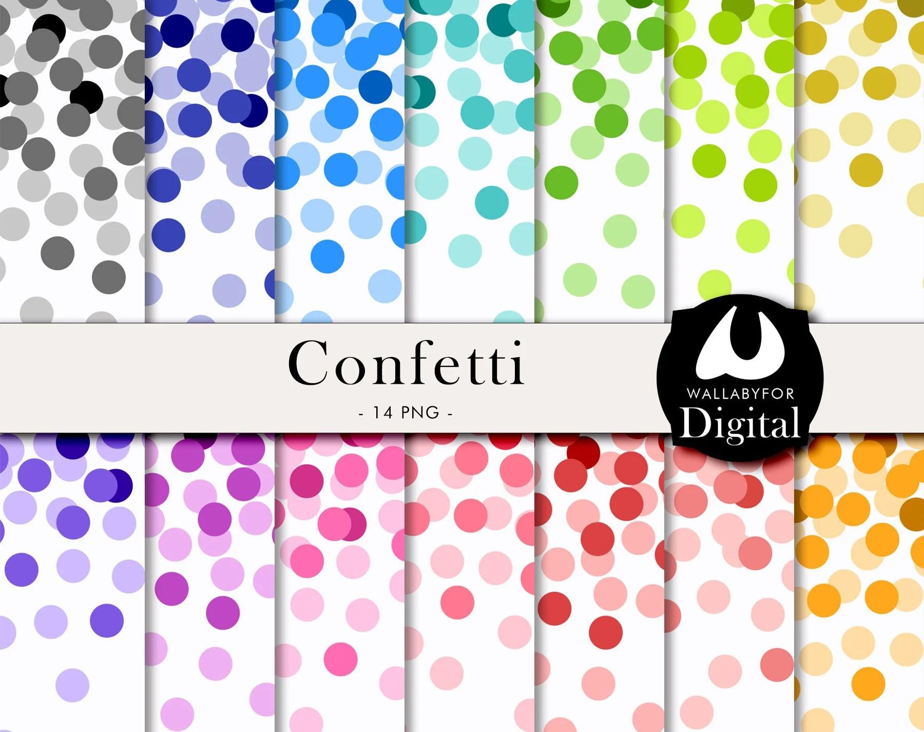 Confetti Digital Paper Confetti Clipart Confetti Png Jpg