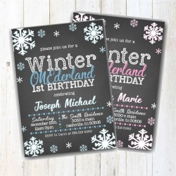 Preferential Winter Onederland Invite Invitation Boy Girl Birthday Party Wonderland One Chalk Snow Snowflakes Printable Snowflake Winter Onederland Invite Invitation Boy Girl Birthday Party invitations Winter Onederland Invitations
