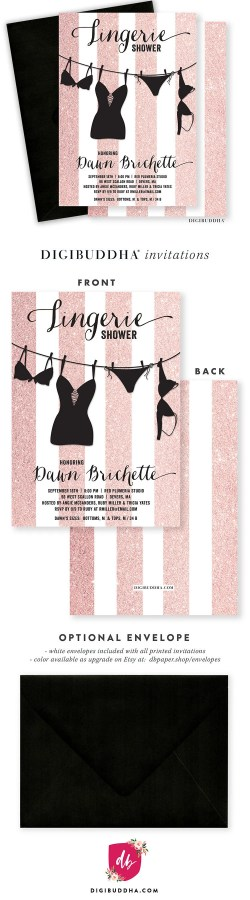 Small Of Lingerie Shower Invitations