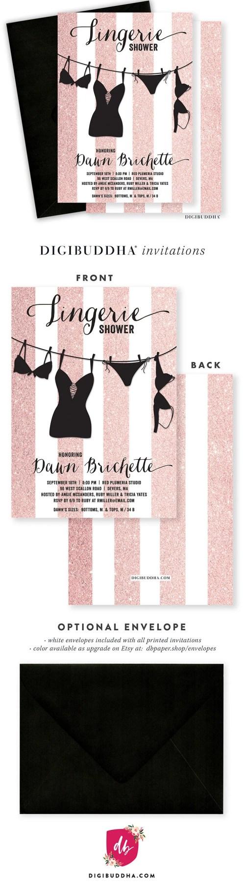 Medium Of Lingerie Shower Invitations