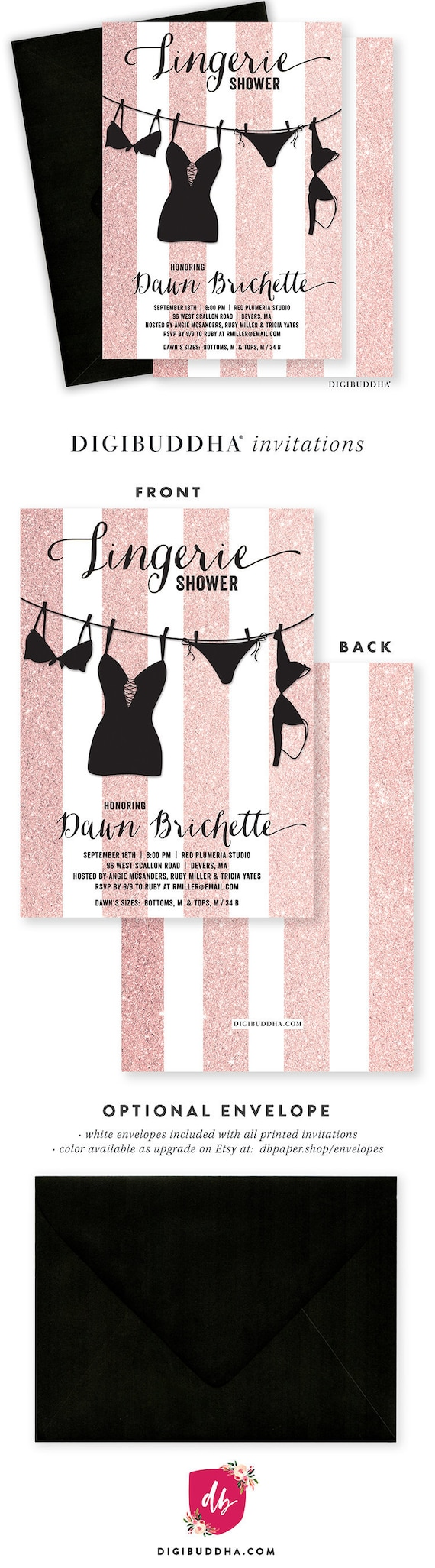 Large Of Lingerie Shower Invitations