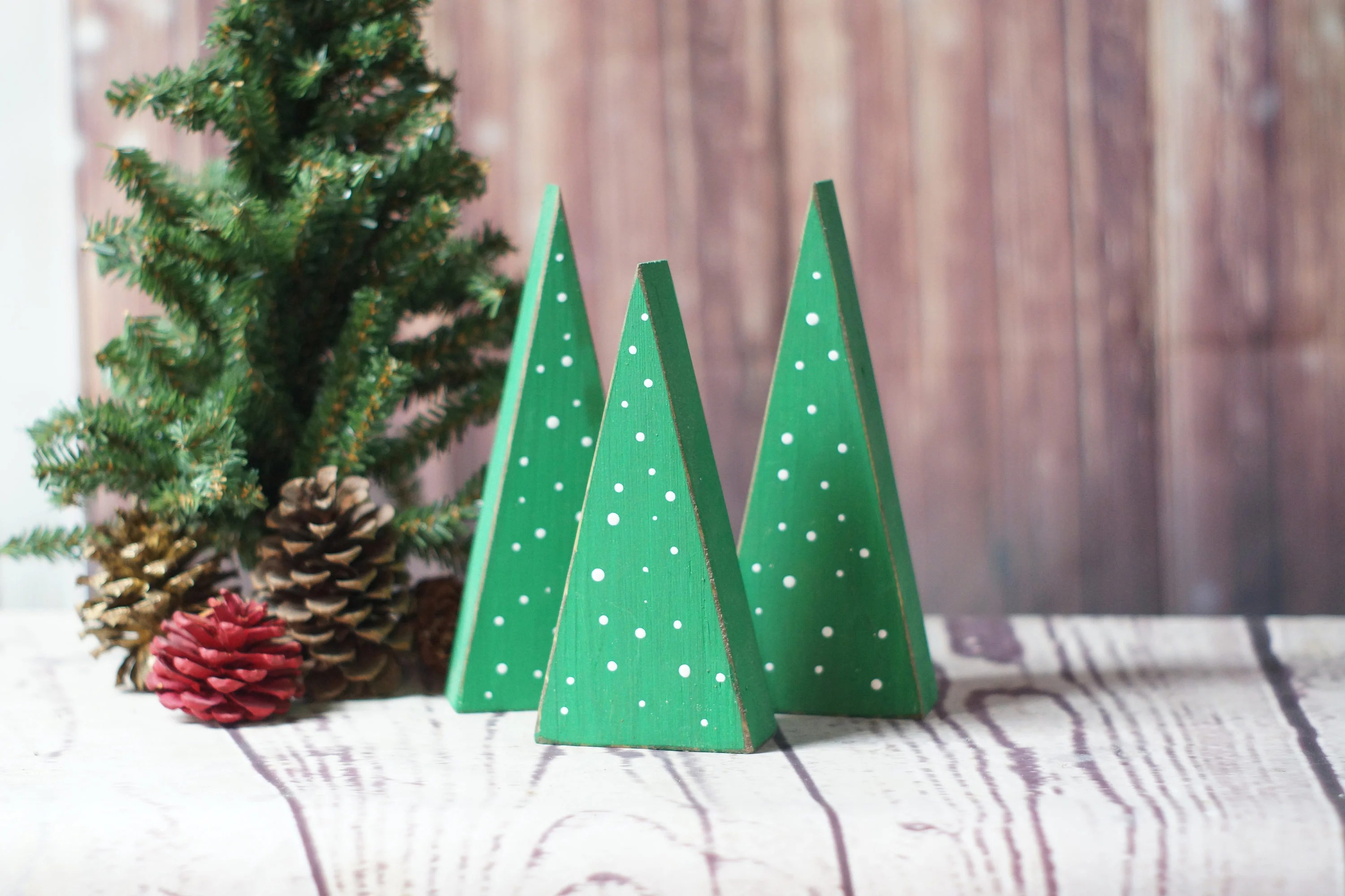 Small Wooden Trees Rustic Christmas Tree Primitive Christmas - small decorative christmas trees