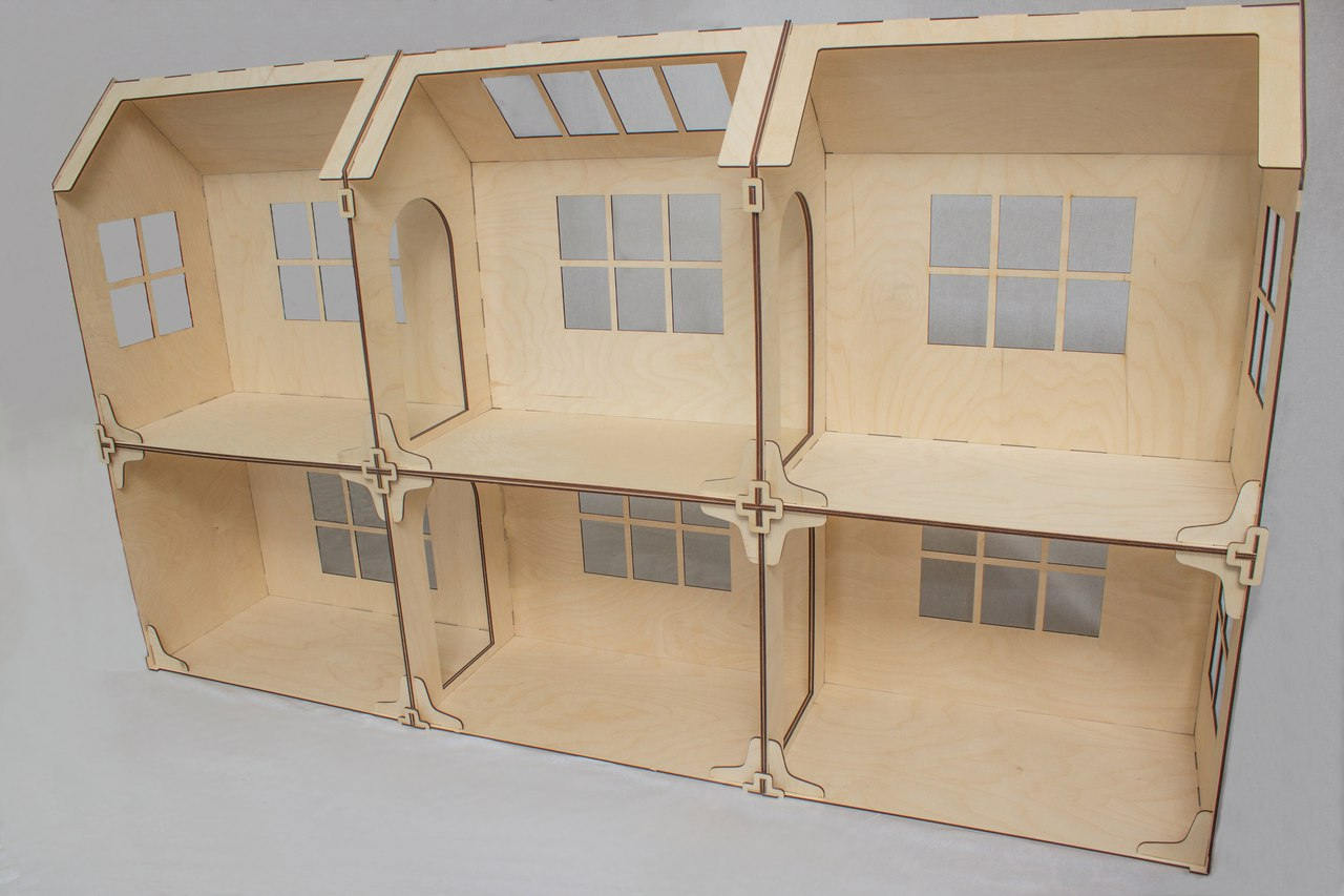 Barbie Puppenhaus Selber Bauen Modular Doll House 6 Rooms Dollhouse Wood Dollhouse