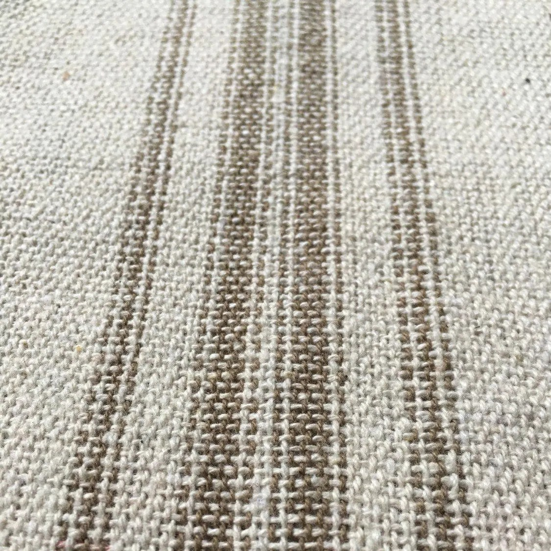 Flour Sack Fabric By The Yard Grain Sack Fabric Sold By The Yard Tan Stripes Vintage