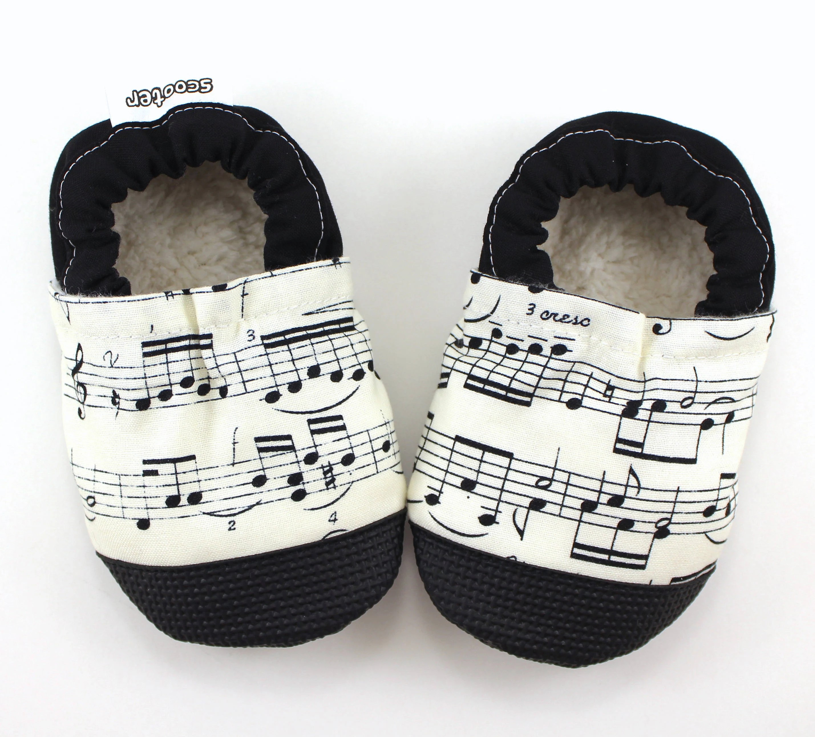 Baby Newborn Booties Music Note Baby Shoes Sheet Music Clothing Baby Booties