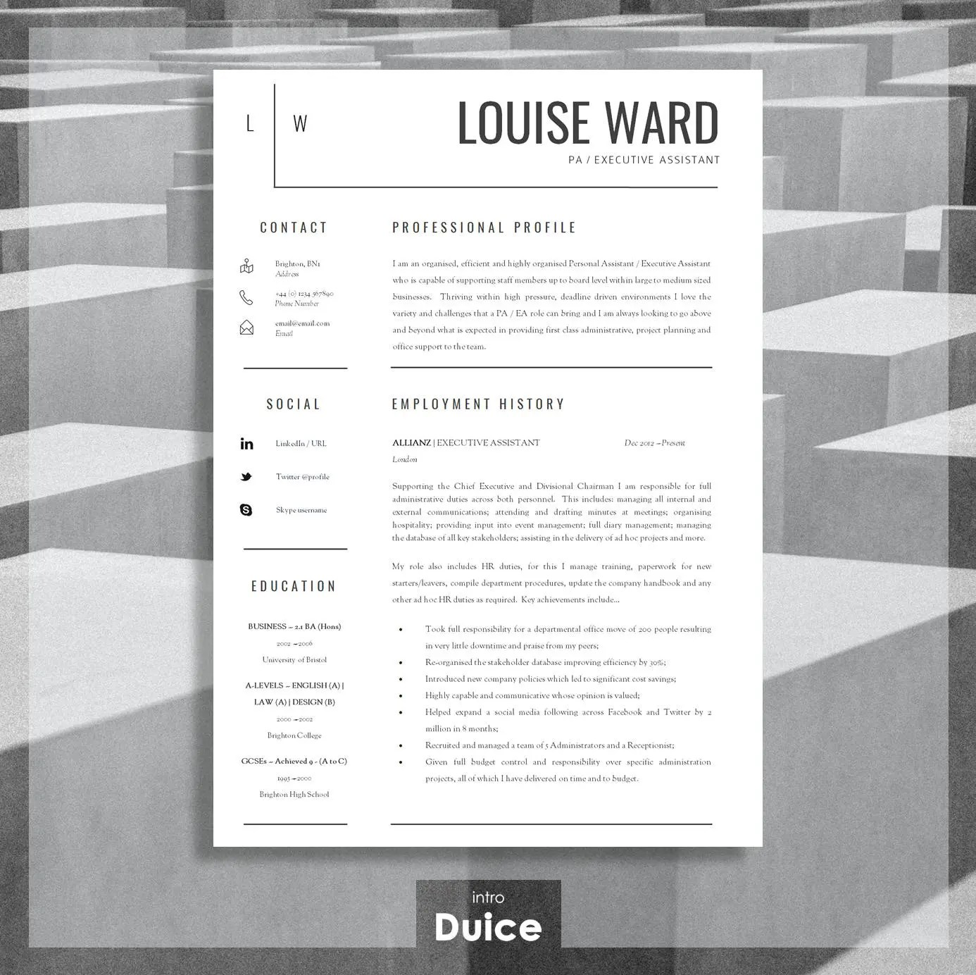 Resume Template CV Template Cover Letter Resume Advice - what is a resume profile