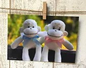 Sock Monkey Angels Postca...