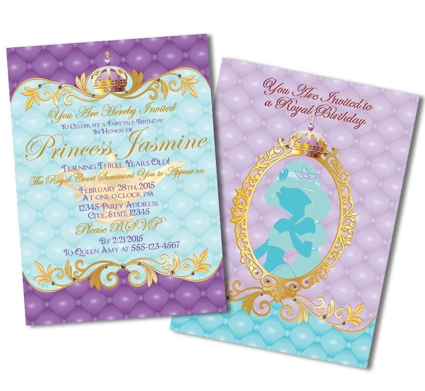 Princess Birthday Invitations, Disney Princess Invitations, Princess