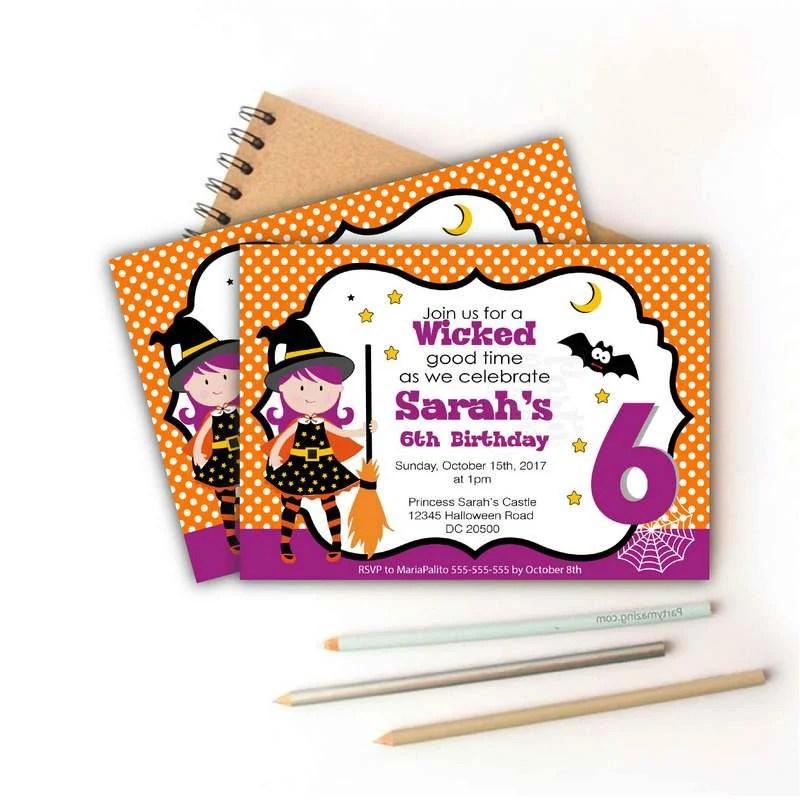 Printable Little Witch Halloween Printable Invitation, Halloween