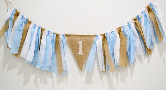 Boy First Birthday Banner - first birthday banner - birthday cake