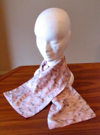 Vintage Early 1940s 'Dusty Pink Clouds' Scarf