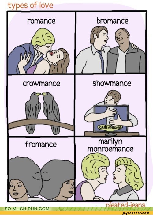 Types of love romance pleated jeans romance funny