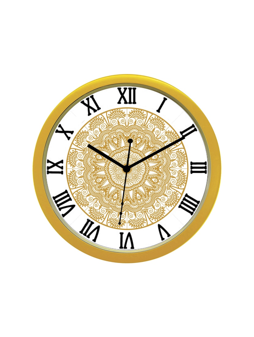 Online Analog Clock Classic Analog Wall Clock Brown