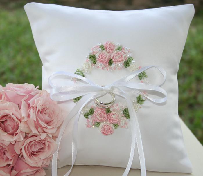 Свадебные подушечки своими руками
