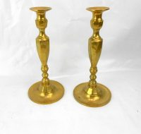 vintage brass candle holders taper candle holders brass ...
