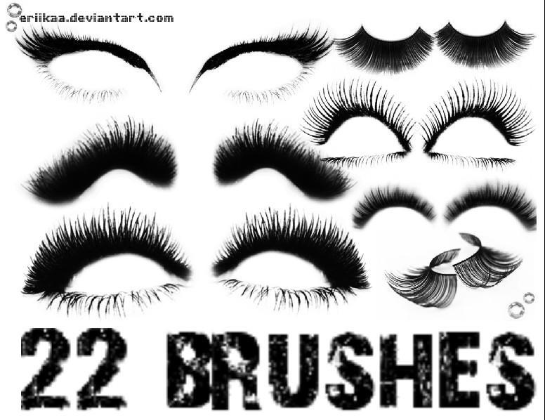 Eyelash Brushes by eriikaa on DeviantArt
