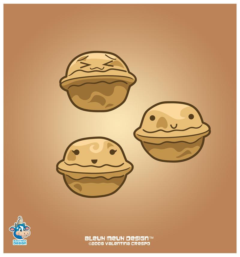 Cute Frappuccino Wallpaper Kawaii Walnut Trio By Kawaiiuniversestudio On Deviantart
