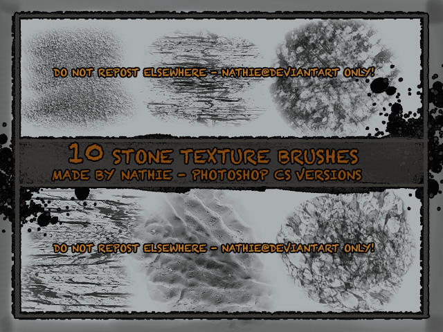 Stone Texture Brushes by nathies-stock on DeviantArt
