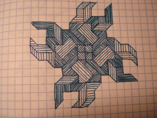 Graph Paper Ninja Star by one-two-three on DeviantArt