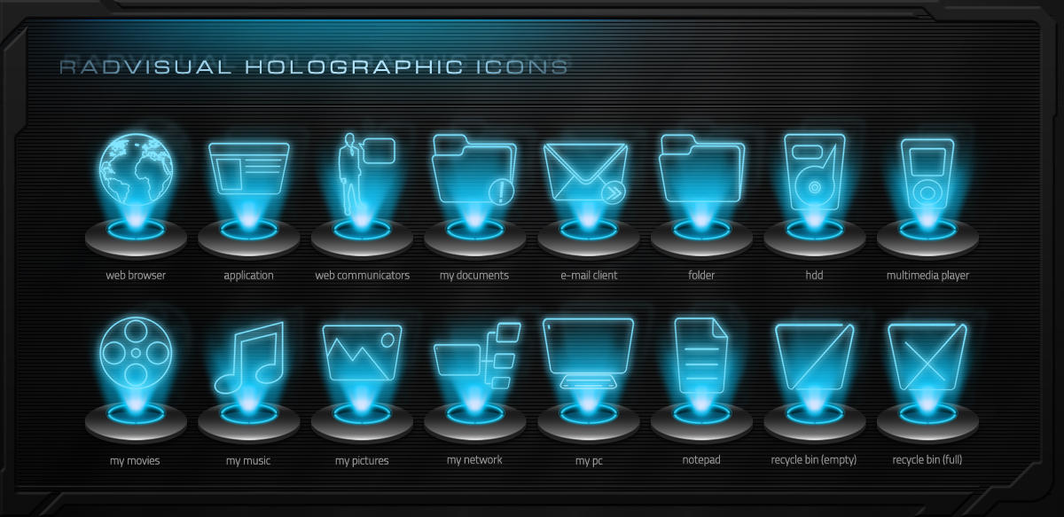 3d Holographic Wallpaper S8 Download Holographic Icon Pack V 1 By Radvisual On Deviantart