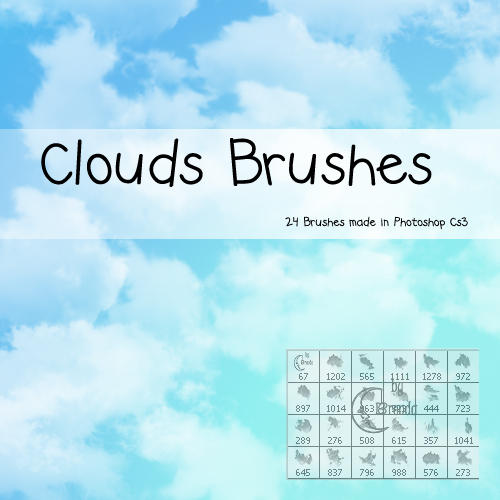 Psp Wallpaper Anime Clouds Photoshop Brushes By Coby17 On Deviantart