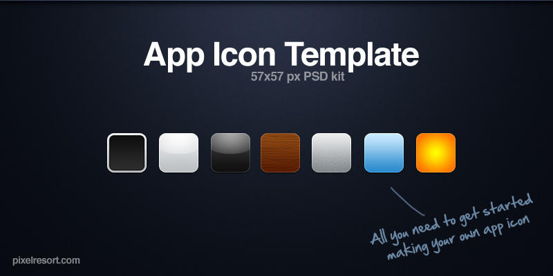 App Icon Template Kit by Flarup on DeviantArt - iphone app icon template