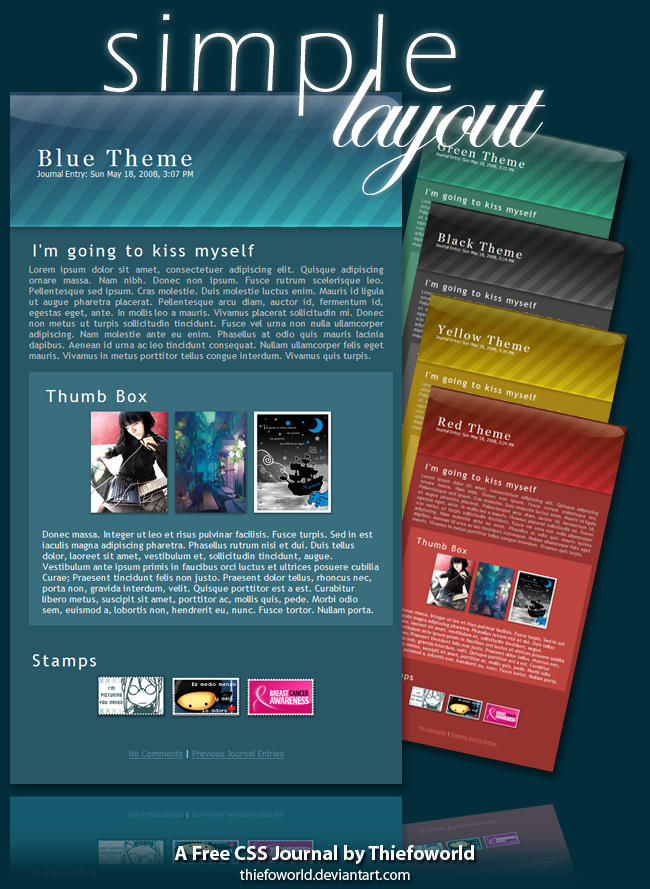 simple layout CSS journal by Thiefoworld on DeviantArt