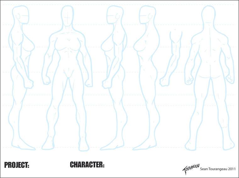 Blank Athletic Female Sheet by stourangeau on DeviantArt - character model template