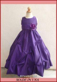 Purple Toddler Flower Girl Dresses