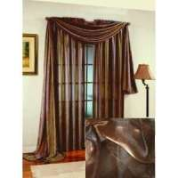 Floral Lined Window Scarf Valance