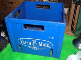 Vintage Dairy Milk Crate Container Plastic Storage