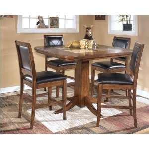 Ashley Emory 4pc Triangle Counter Height Table Dining Set