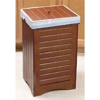 Wooden tilt out garbage trash can bin kitchen home black