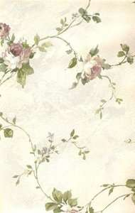 Vintage Style Victorian Rose Floral Wallpaper Border