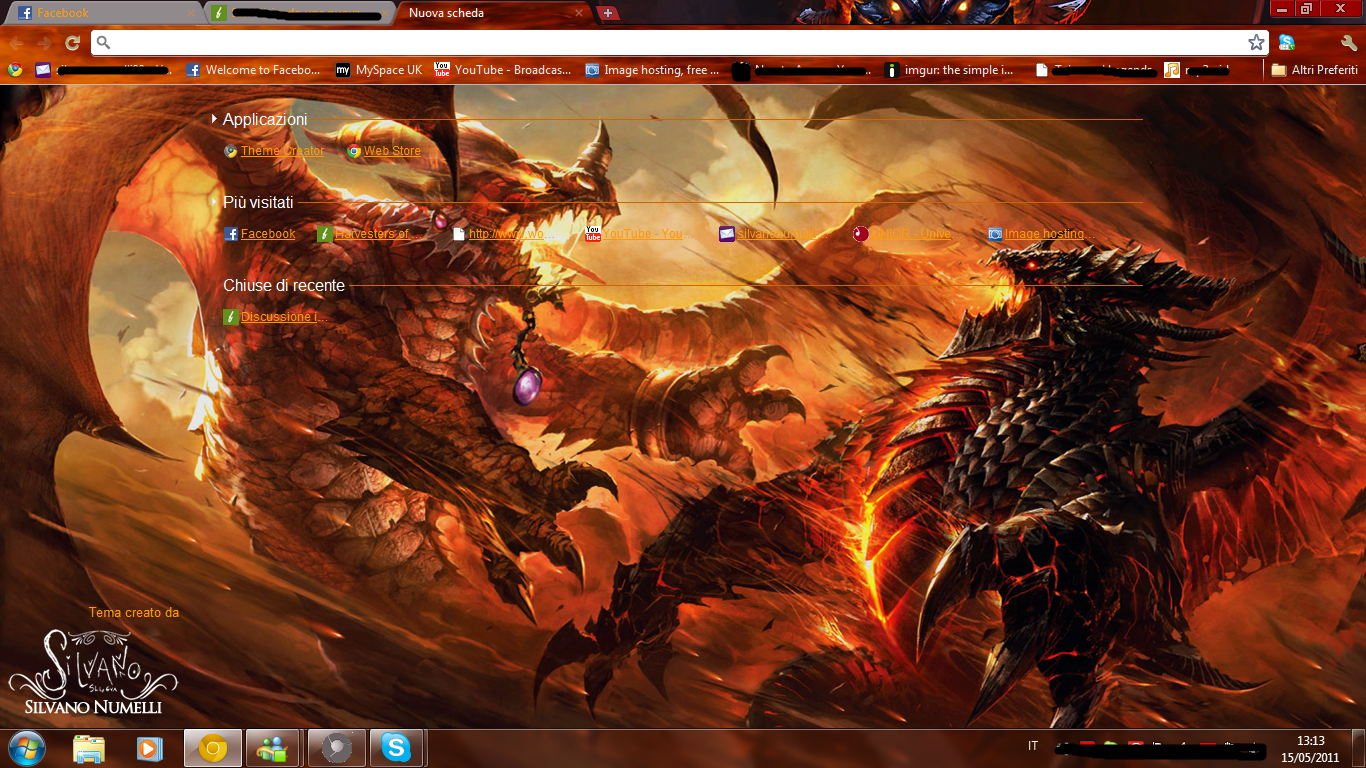 alexstrasza vs deathwing google chrome theme by sl4eva