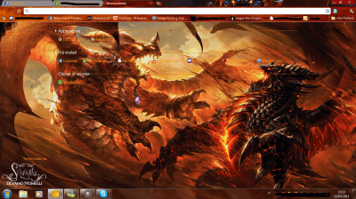 Alexstrasza VS Deathwing [Google Chrome Theme] by SL4eva on DeviantArt
