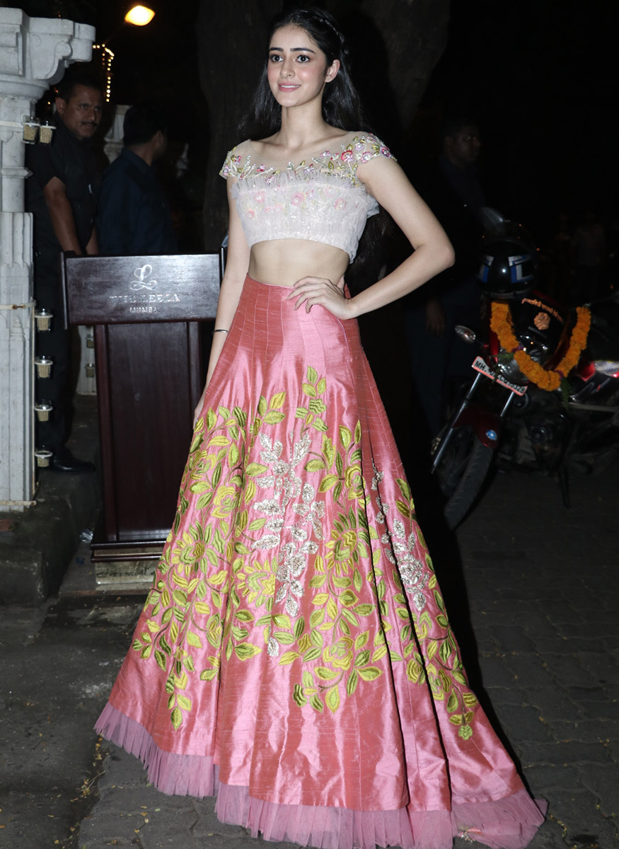 Chunky Pandey's daughter poses for the cameras during Anil Kapoor's Diwali party hosted at his residence in Mumbai on October 19, 2017. (Image: Yogen Shah)
